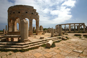 Leptis Magna โบราณสถานสถาปัตยกรรมโรมัน
