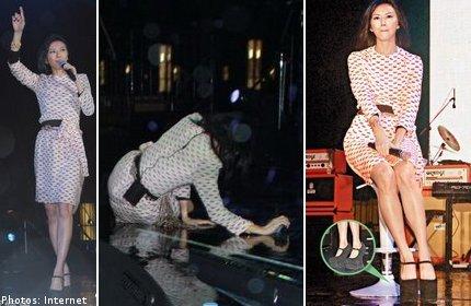 เฟล! ร้องเท้าเป็นเหตุ ซุนเยี่ยนจือ ล้มกลางเวทีคอนเสิร์ต