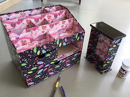 DIY กล่องใส่เครื่องสำอาง