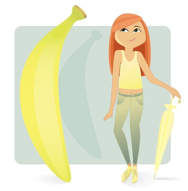 หุ่นทรงกล้วย